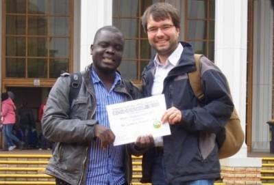 INISA Stipendiaten 2011: Thulani Ndlovu und Lameck S. Saka
